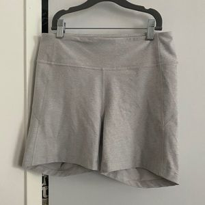 Outdoor Voices Warmup Shorts in Oatmeal